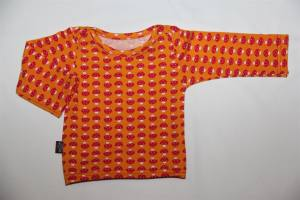 BabyPulli Gr. 50 / 56 *orange, pilz*